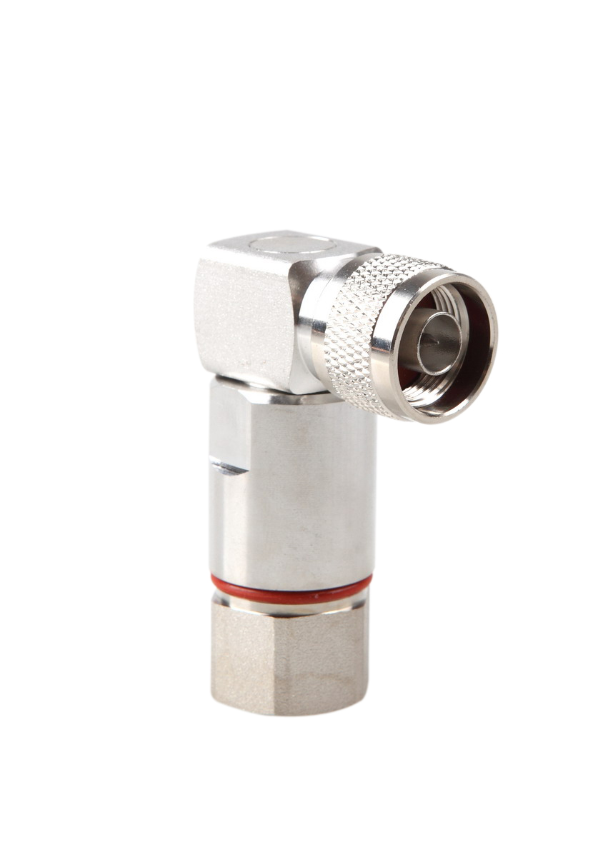 N Male Right Angle connector for 1/2'' flexible coaxial cable